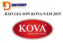 Báo giá sơn Kova 2019 - Bảng giá niêm yết tiêu chuẩn của tập đoàn Kova năm 2019