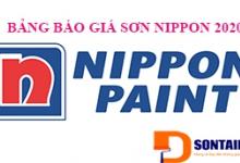 Báo giá Sơn Nippon 2020 - Bảng giá niêm yết của tập đoàn Nippon