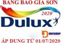 Báo giá Sơn Dulux 2020- Bảng giá niêm yết của tập đoàn AkzoNobel sơn Dulux áp dụng từ 01/07/2020