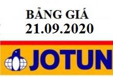 Bảng báo giá sơn JOTUN áp dụng từ ngày 21-09-2020